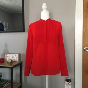 J. Crew stunning red button down blouse